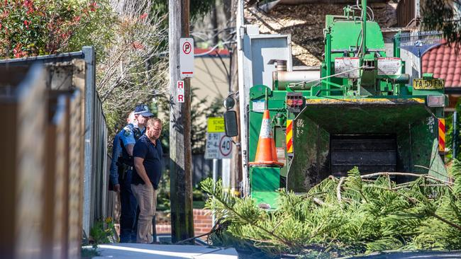 A 40-year-old man died in a woodchipper incident in Lindfield. Picture: Monique Harmer