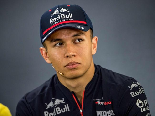 Alexander Albon is in the hot seat next to Verstappen — for now.