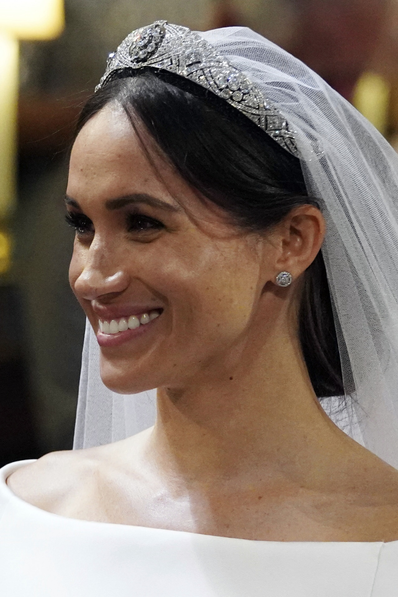 Meghan Markle chooses an elegant up-do for the royal wedding