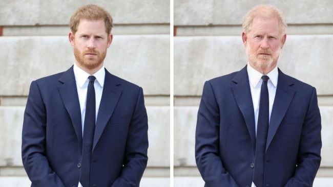 Prince Harry. Image: Getty/FaceApp