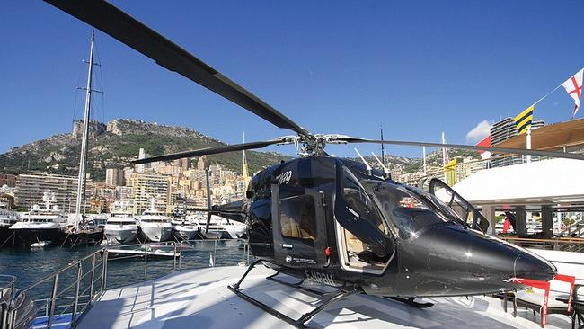 Get to your holiday fast with the helicopter. Picture: Ocean Independence