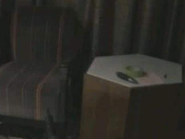 Stephen Paddock's room and the note he left. Picture: MikeTokes/Twitter