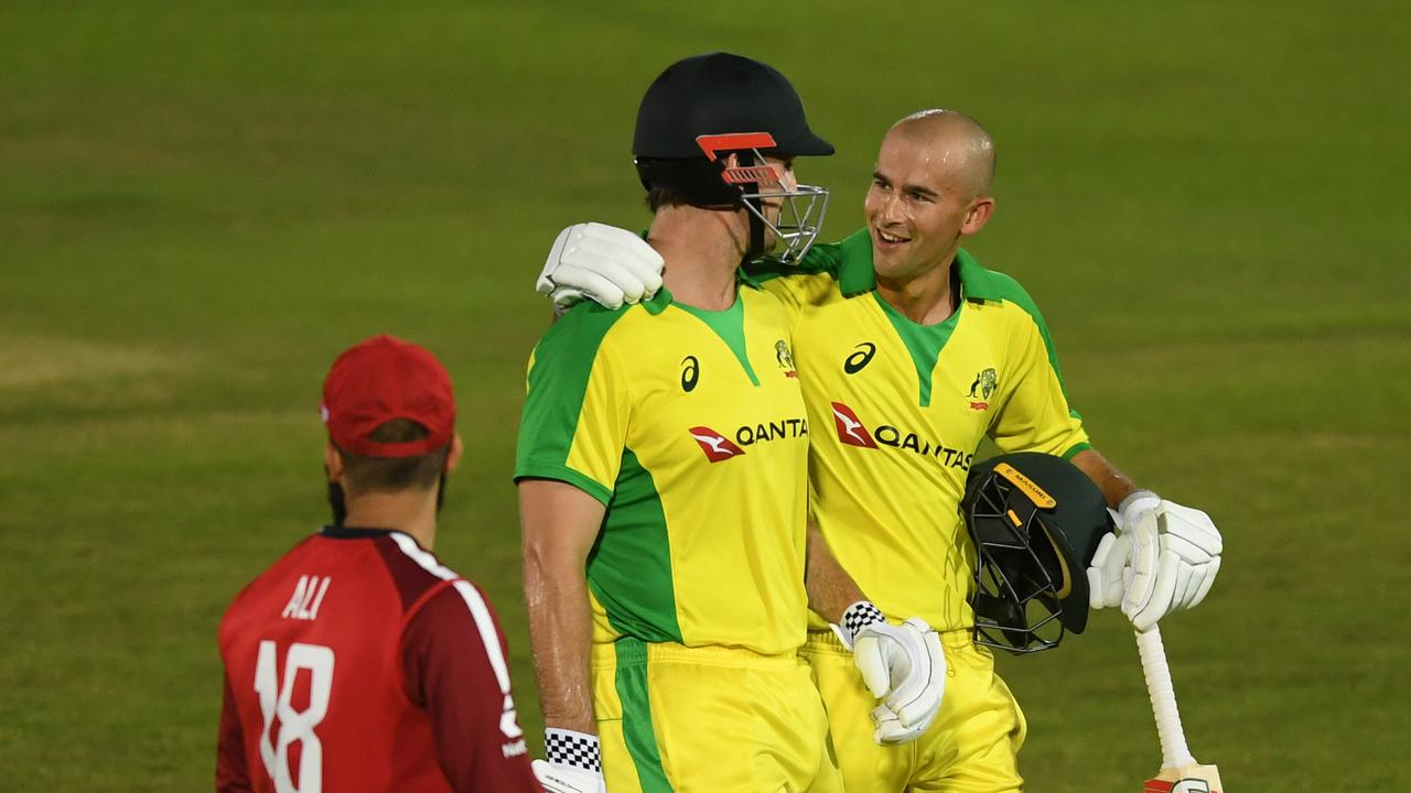Mitchell Marsh marked his return to the world stage by leading Australia to a five-wicket consolation win.