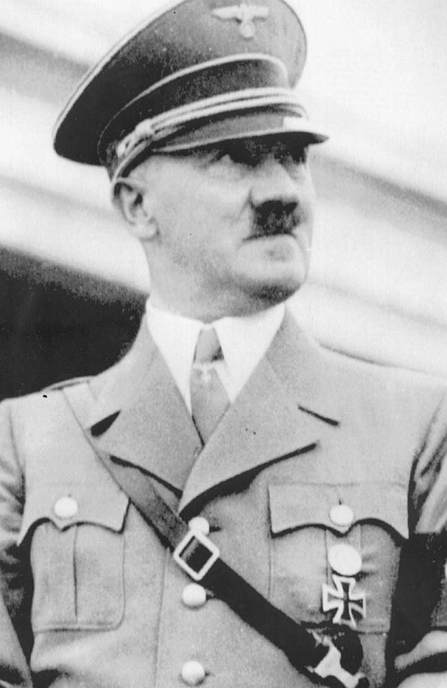 The man who started the Nazi movement, leader Adolf Hitler in 1937.