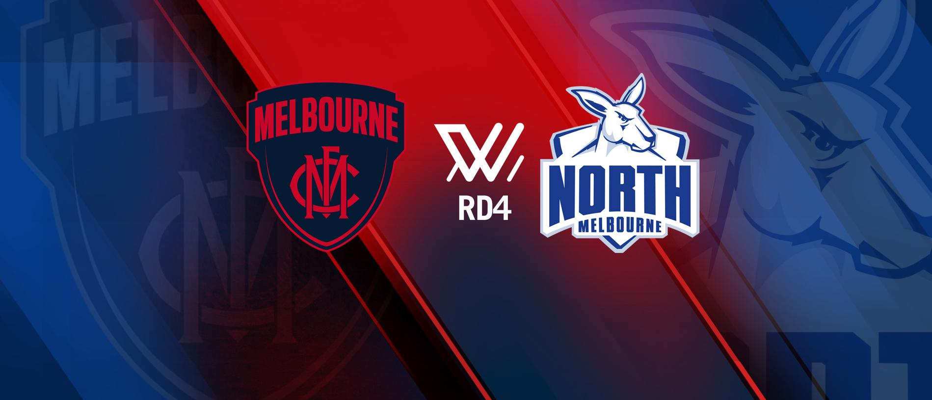 Melbourne faces the North Melbourne Tasmanian Kangaroos in Round 4 of the 2019 AFLW season.