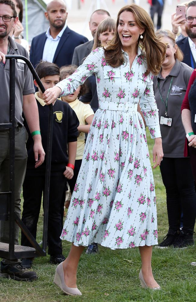 The Duchess of Cambridge at the Back to Nature festival, which celebrates the value of communities to our wellbeing and marks the culmination of the Royal Horticultural Society garden project. Picture: Matrix