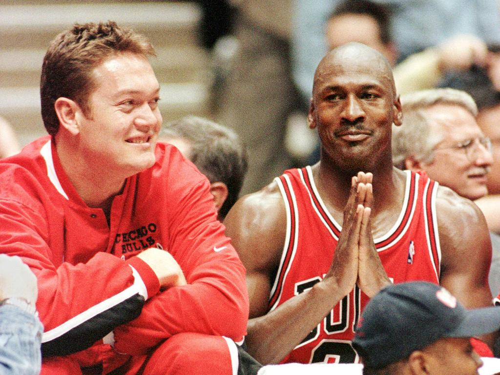 Luc Longley had some fun in Chicago.