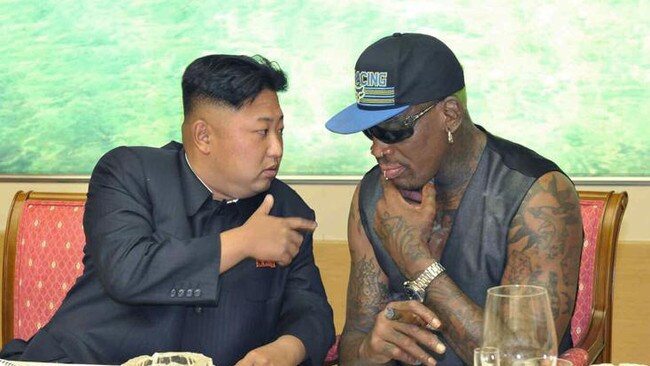 Could Dennis Rodman bring peace to the Korean peninsula? Picture: AAP