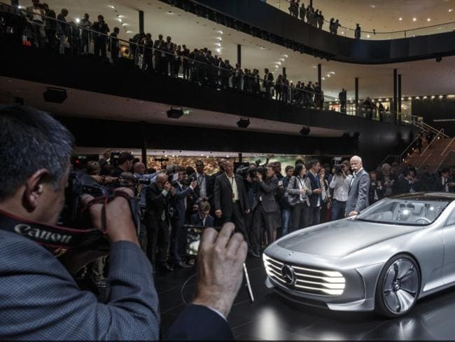 Global force ... Mercedes-Benz boss Dieter Zetsche revealed the company employs 280,000 people from 150 countries. Picture: Supplied