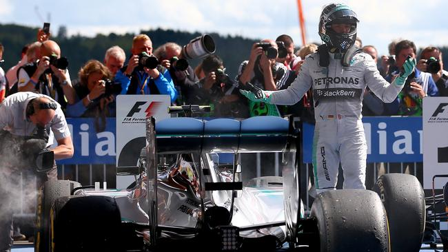 Mercedes driver Nico Rosberg after finishing second at the Belgian Grand Prix.