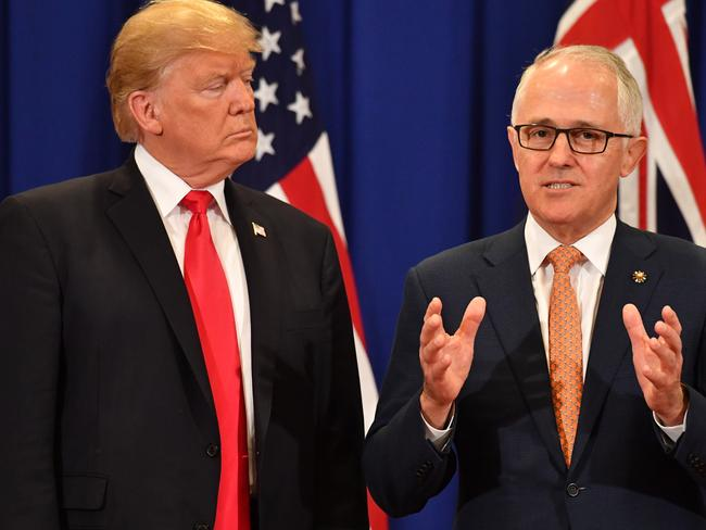 United States President Donald Trump and Australian Prime Minister Malcolm Turnbull got off to a rocky start. Picture: AAP