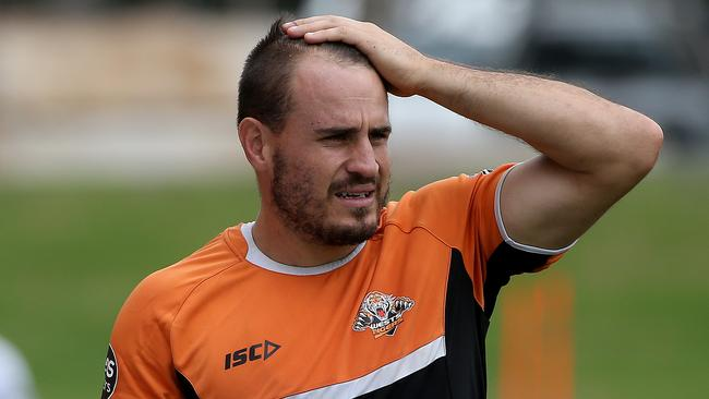 Wests Tigers star Josh Reynolds doesn't know where he'll play when he returns. Picture: Toby Zerna