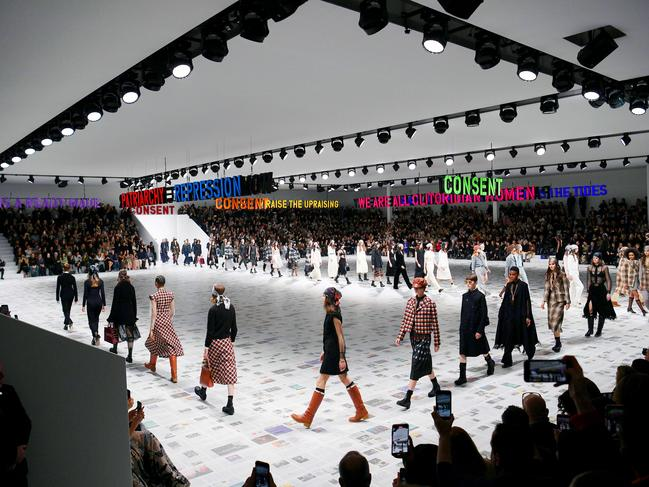 The scene at Dior's PFW show. Picture: AFP