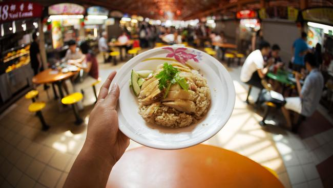 Hainanese chicken rice is an iconic Singaporean dish and the ultimate comfort food.