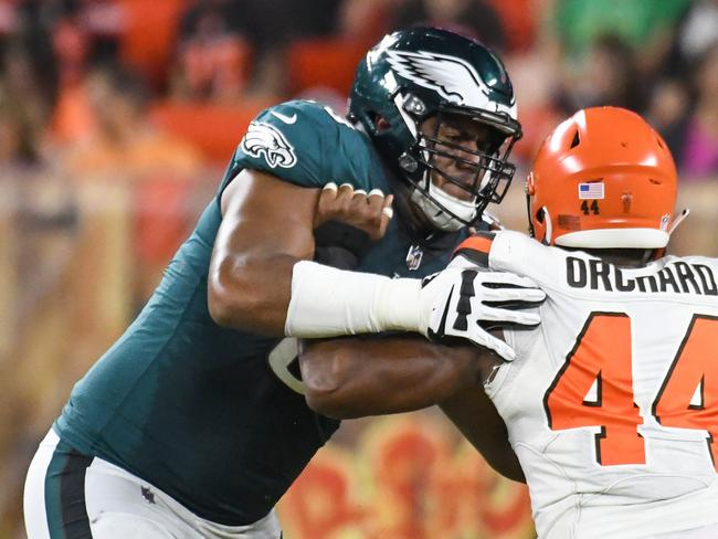 Aussie Jordan Mailata impressed during the pre-season.