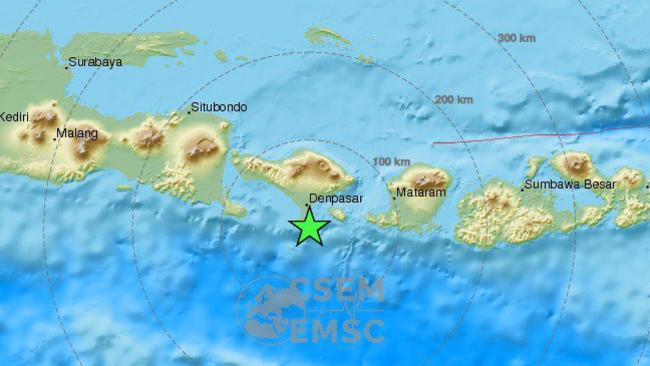 Bali earthquake 64 magnitude quake shakes indonesian holiday island an early estimate of the epicentre of this mornings earthquake off the coast of bali some three million people are believed to have felt its shock gumiabroncs Images