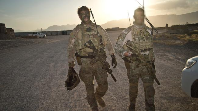 Andrew Hastie and a colleague in Afghanistan in 2013.