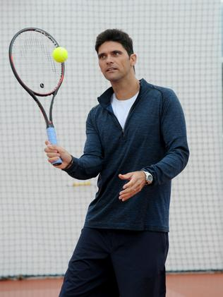 Former world top 10 tennis star Mark Philippoussis is the son of Nick. Picture: Andrew Henshaw