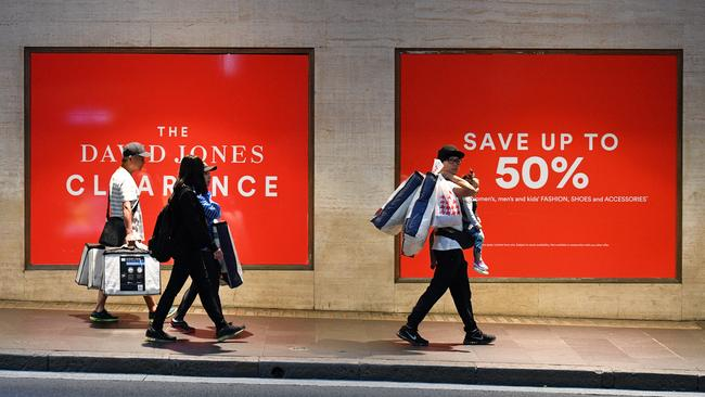 David Jones expects to sell 10,000 coats in the next few days. Picture: AAP Image/Mick Tsikas.