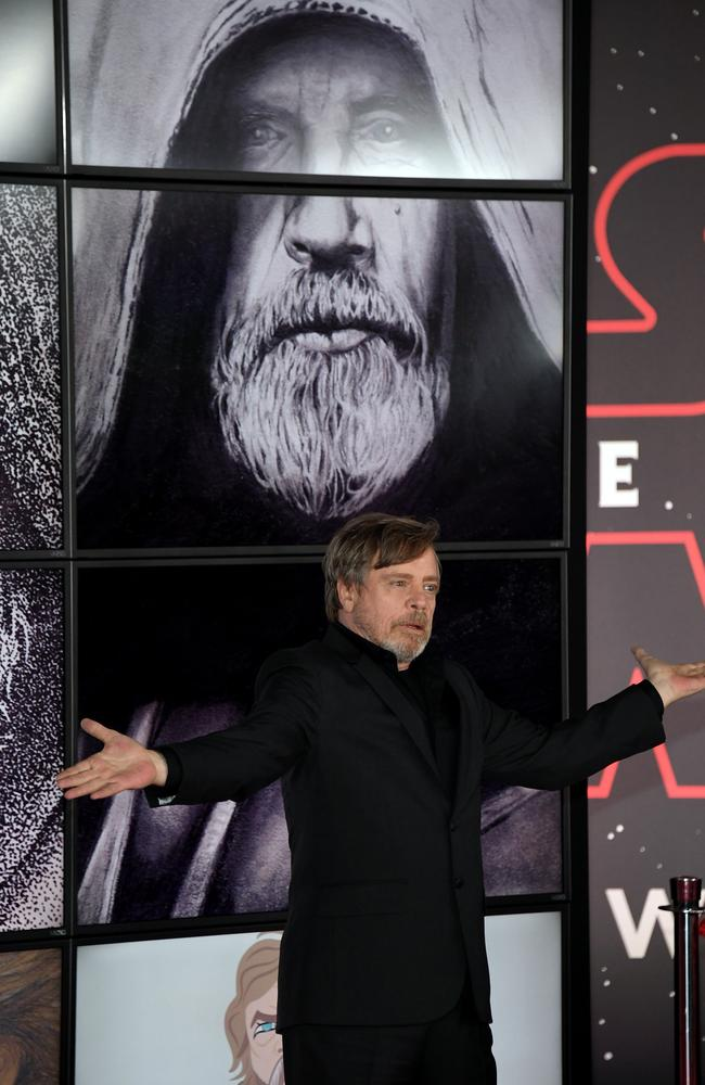 Actor Mark Hamill attends the premiere of  <i>Star Wars: The Last Jedi</i> in Los Angeles. Picture: Getty