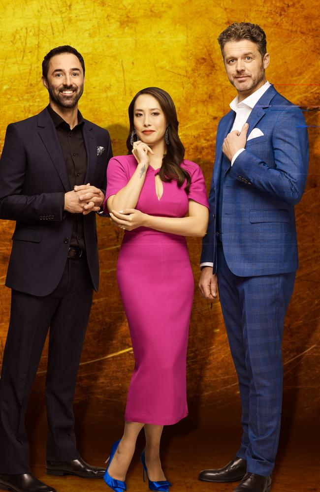 Andy Allen (from left), Melissa Leong and Jock Zonfrillo are the new MasterChef judging panel. Picture: Supplied