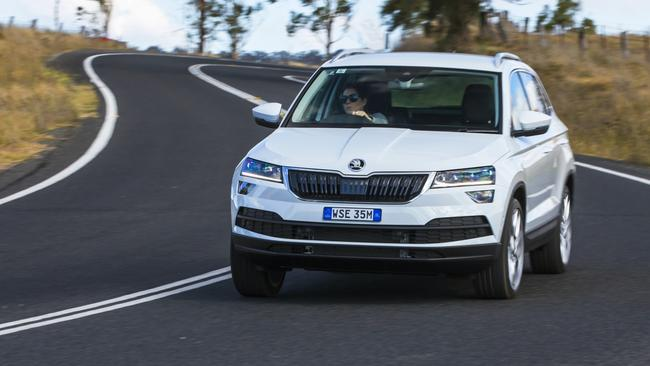 Agile handling: Sharing underpinnings with the VW Tiguan, the Karoq drives well