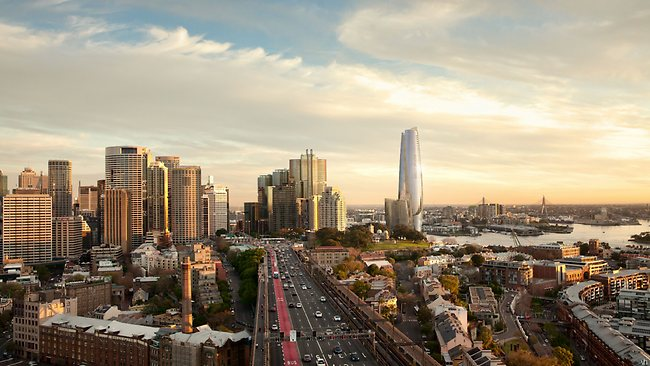 An artist's impression of the proposed Crown Sydney Hotel Resort at Barangaroo. Picture: Supplied