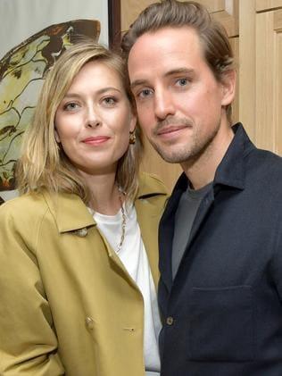 Maria Sharapova with her boyfriend, Alexander Gilkes, who was Misha Nonoo's first husband. Picture: Getty