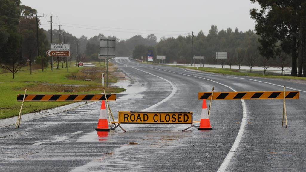 The South Gippsland Hwy closed to Longford. Picture: David Caird