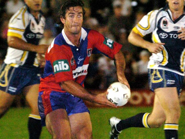 Andrew Johns during his playing days for the Newcastle Knights.