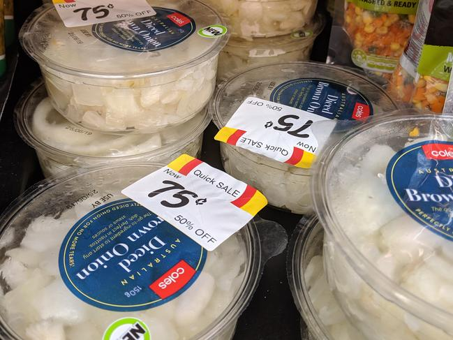 Coles is selling pre-chopped onions for $1.50.