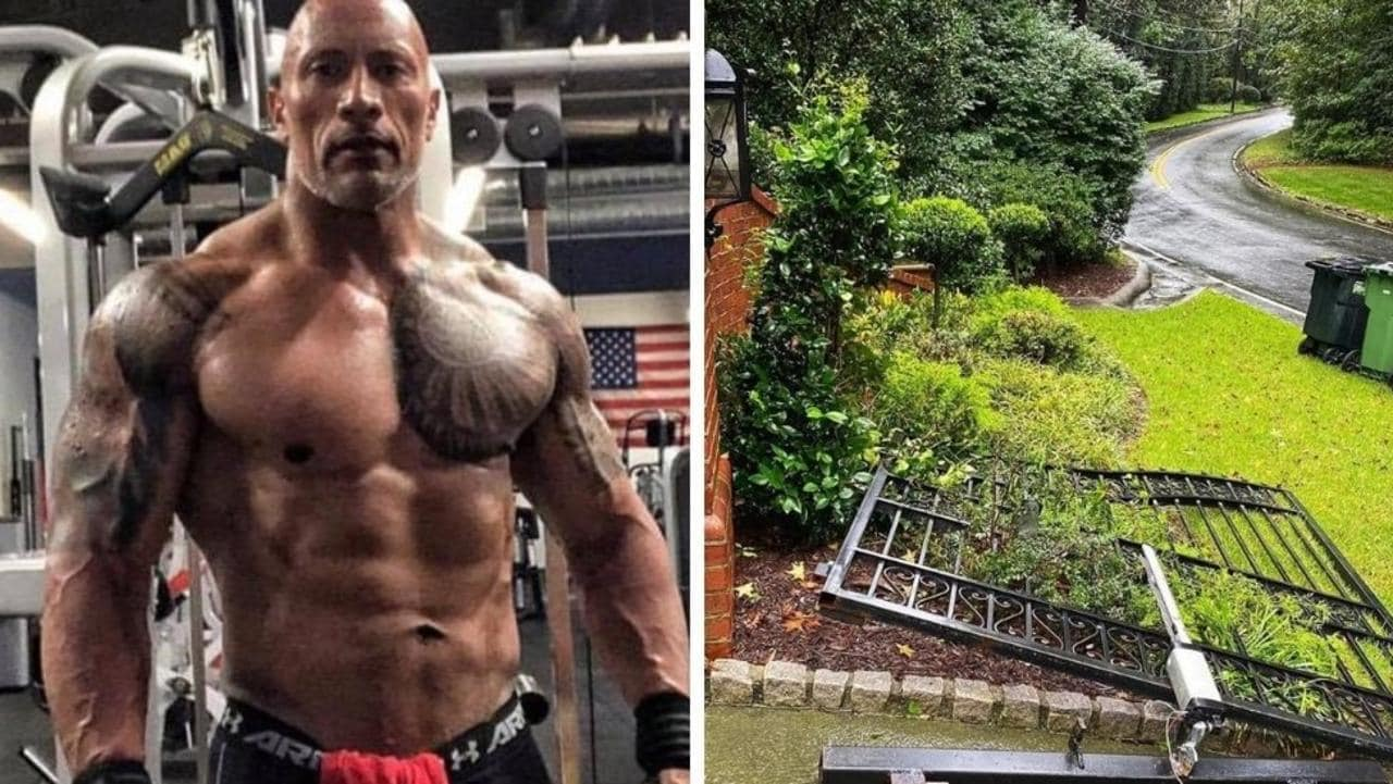 Of course Dwayne Johnson can tear his gate down.