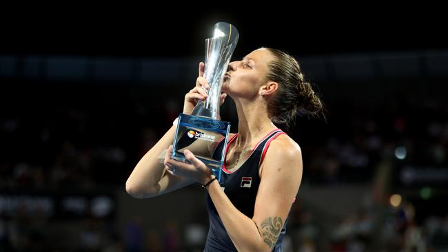 Brisbane International champion Karolina Pliskova. Eight of the world's top 12 players competed at this year's event. Picture: Chris Hyde/Getty Images
