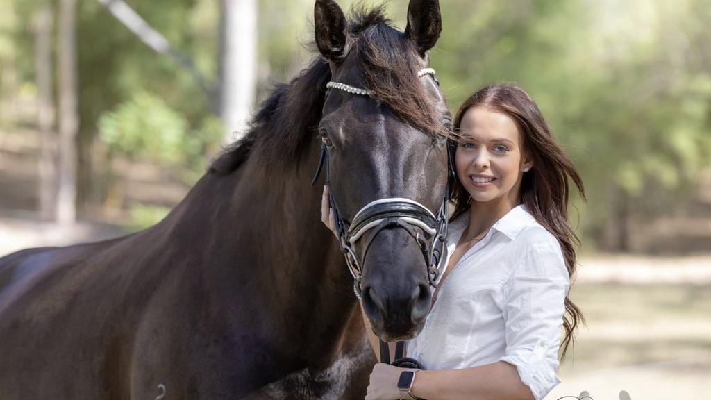 Morayfield rider Mackenzie Boundy who has won the 2018 Equestrian  Queensland Against All Odds award.