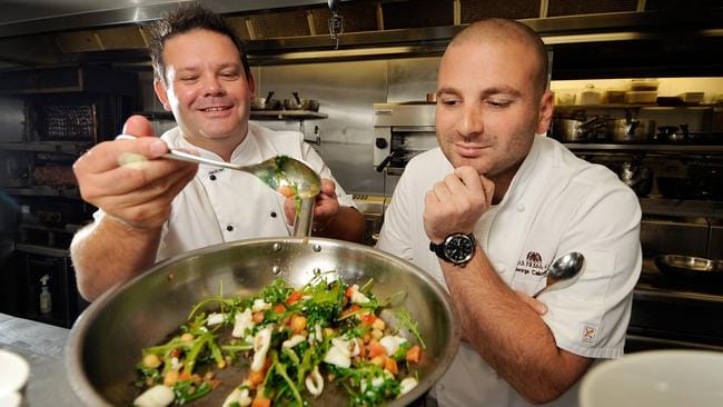 Melbourne chefs George Calombaris and Gary Mehigan met while working together at Sofitel.