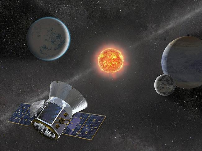 NASA's planet-hunting satellite TESS helped discover a 'super-Earth'. Picture: Supplied/NASA