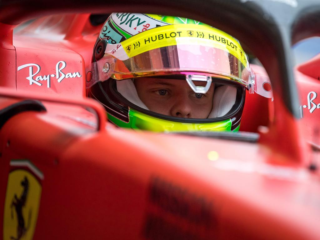 Mick Schumacher is following in his dad's footsteps — right down to the car.