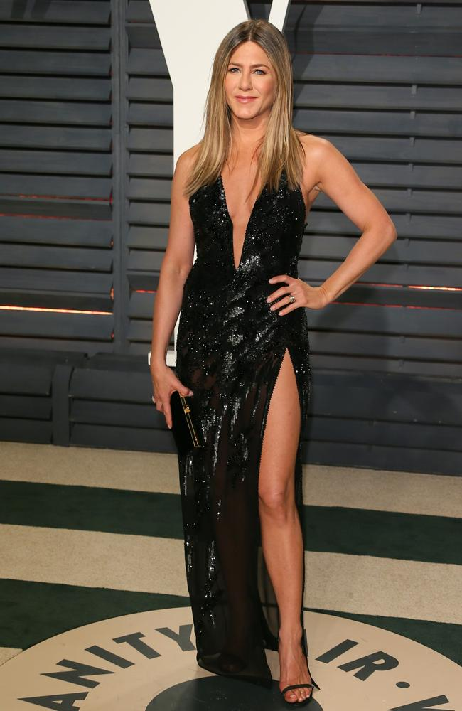 So that's how Jennifer Aniston stays in such incredible shape. Picture: JEAN-BAPTISTE LACROIX / AFP