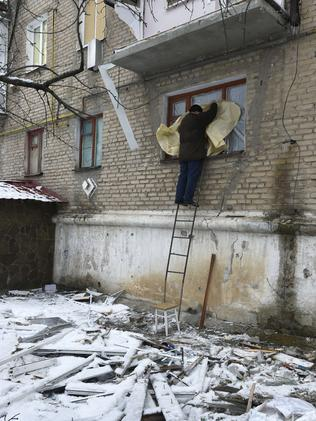 Businesses have closed, entrepreneurs have fled and cash is running dry in Donetsk. Picture: AFP/Dominique Faget