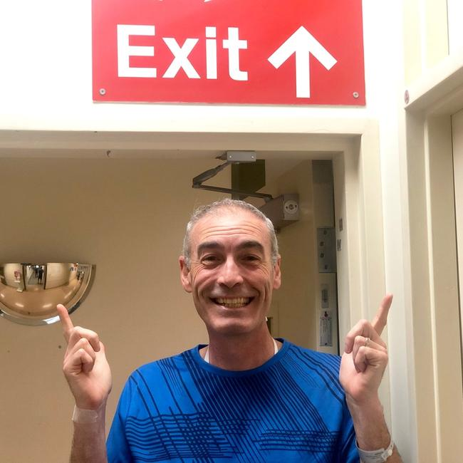 Wiggle Greg Page has been discharged from hospital after last weeks heart attack. Picture: Twitter