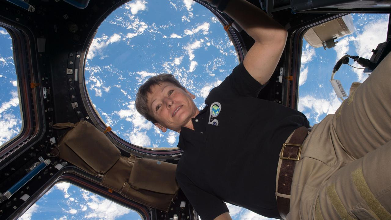NASA astronaut Peggy Whitson aboard the International Space Station. Picture: AFP