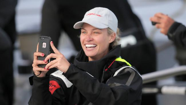 Kristy Hinze was there first female owner of a yacht to claim line honours in the Sydney to Hobart.