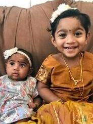 Priya and Nadesalingam's two daughters Dharuniga and Kopiga. Picture: Supplied.