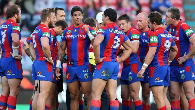 The Knights have a committee meeting after conceding another try.