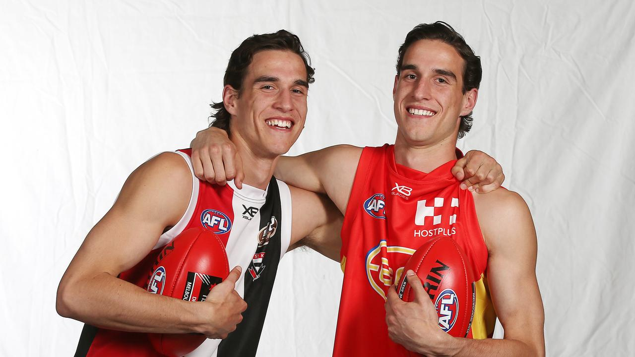 Max and Ben King after last Thursday night's National Draft.