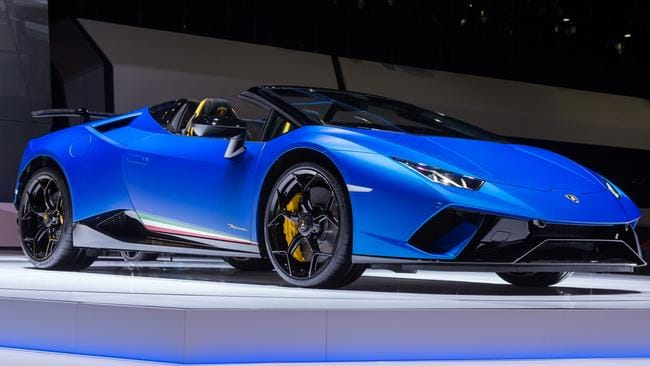A Lamborghini Huracan, similar to the one Mr Hashi drove.