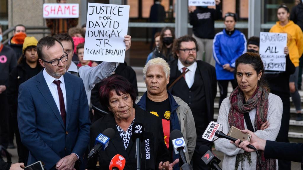 """Leetona Dungay says she doesn't care if she's """"shot"""" by police. Picture: AAP/James Gourley"""