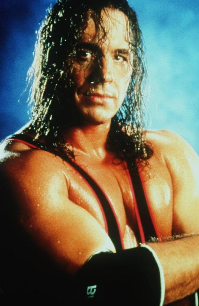 "Canadian wrestler Bret ""Hitman"" Hart: Victim of the infamous ""Montreal Screwjob""."