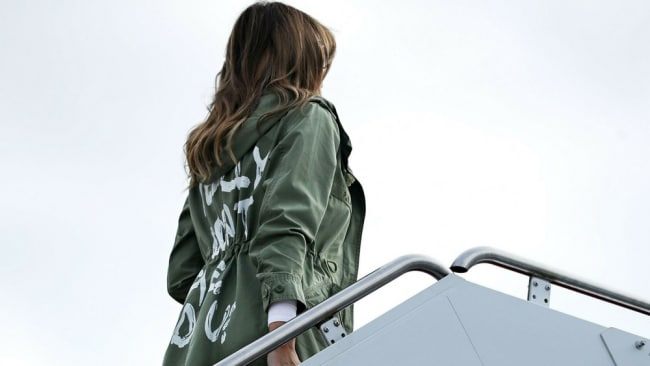 Melania doesn't understand why the media focuses on trivial stuff, like what she wears. Image: Getty.