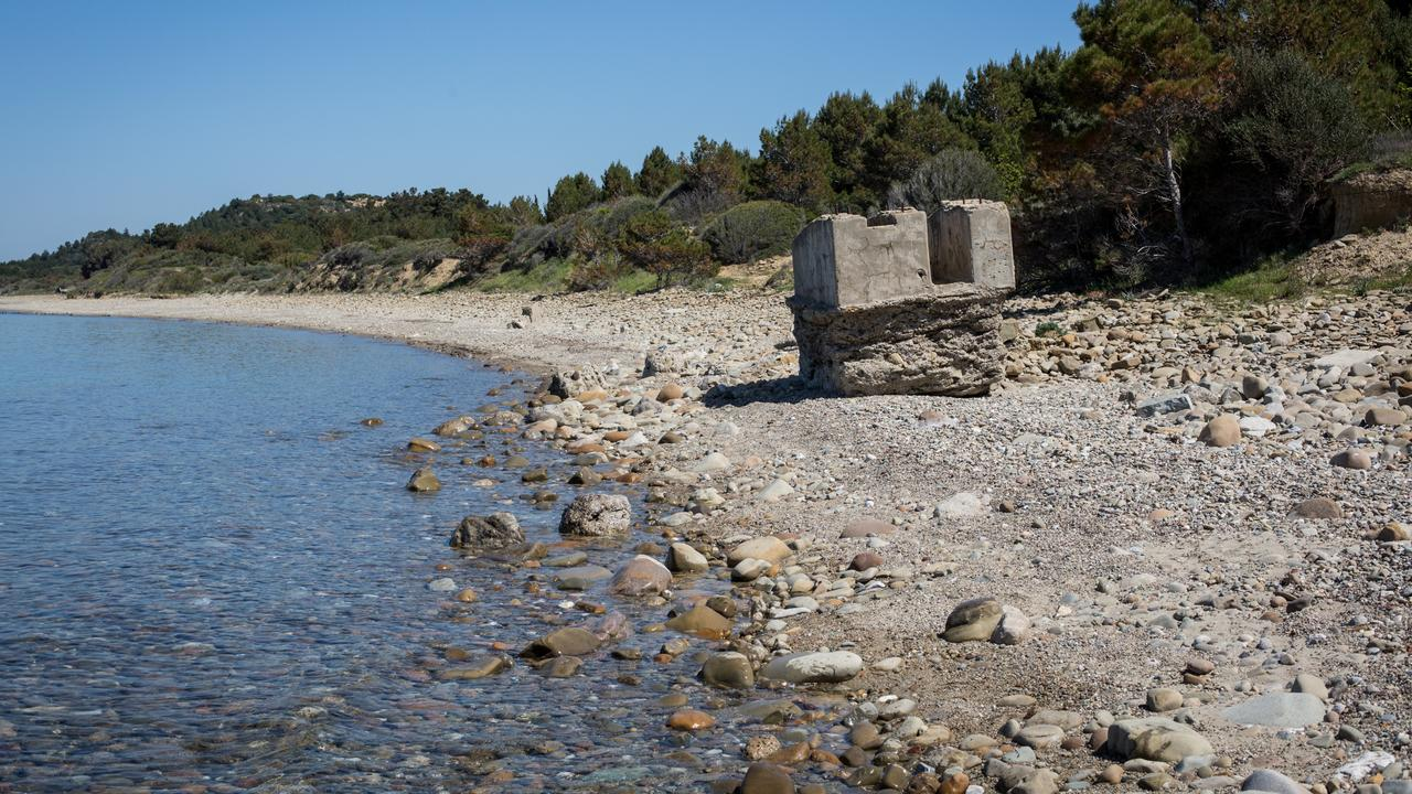 Anzac Cove at Gallipoli, Turkey, more than 100 years after the Australian and New Zealand soldiers landed there. Picture: Frank Bessiere
